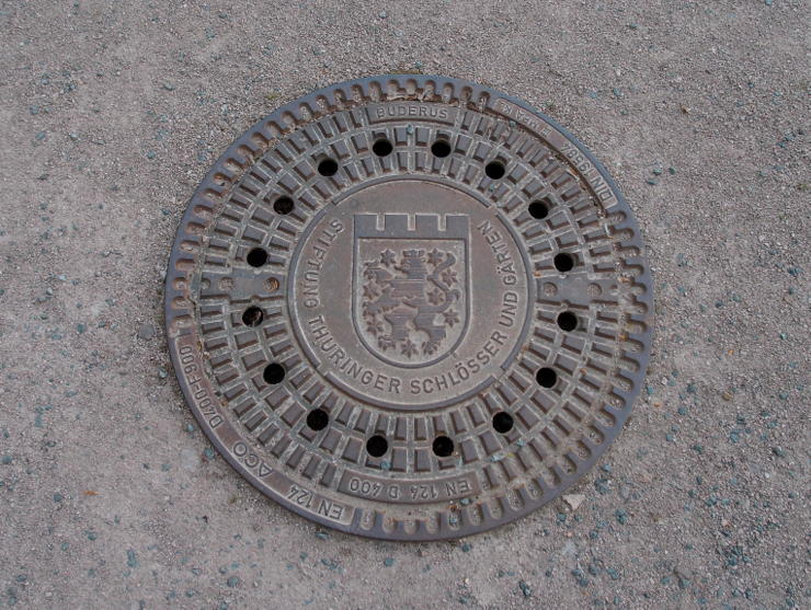 Manhole cover in Gotha, Germany
