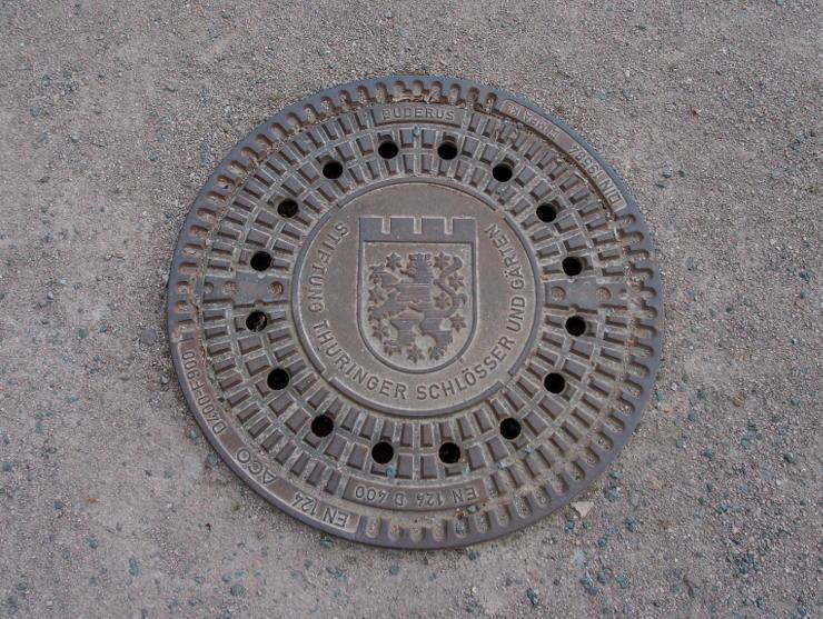 Manhole cover in Gotha, Germany