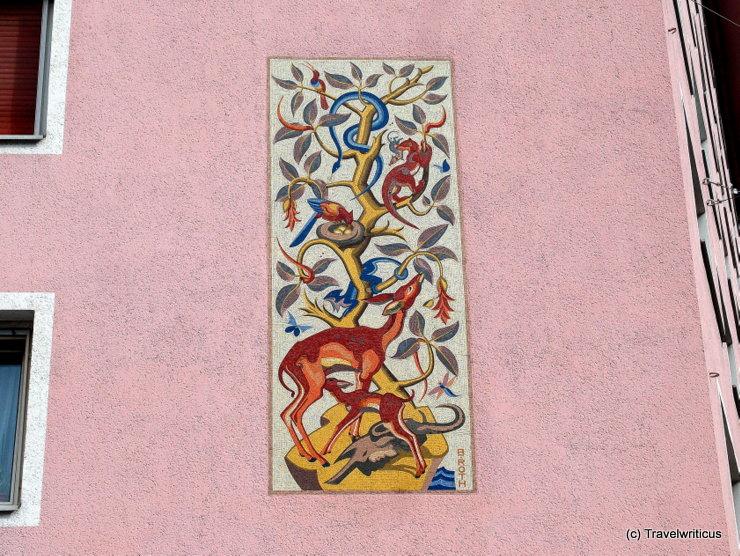 Mosaic created by Norbertine Bresslern-Roth in Graz, Austria