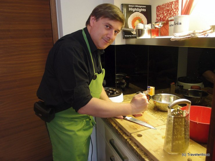 Making some Tartar at a cooking class