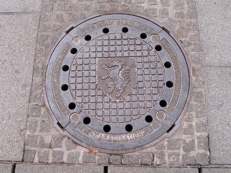 Manhole cover in Graz, Austria