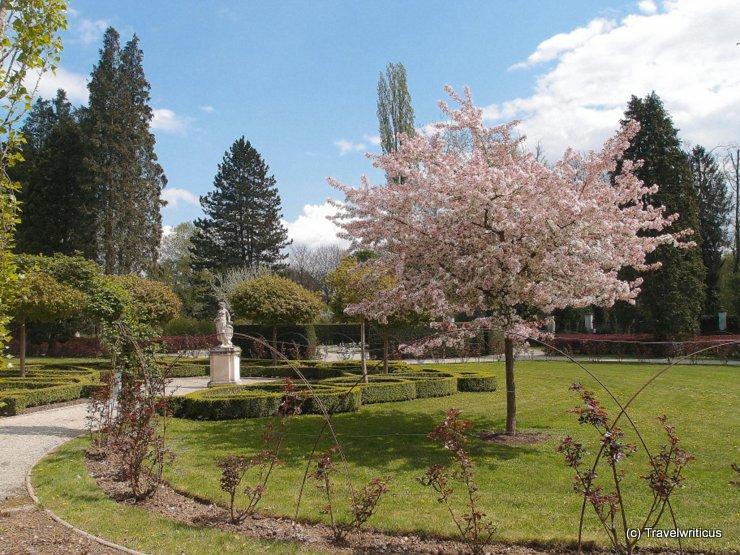 Planetary garden of Schloss Eggenberg in Graz, Austria