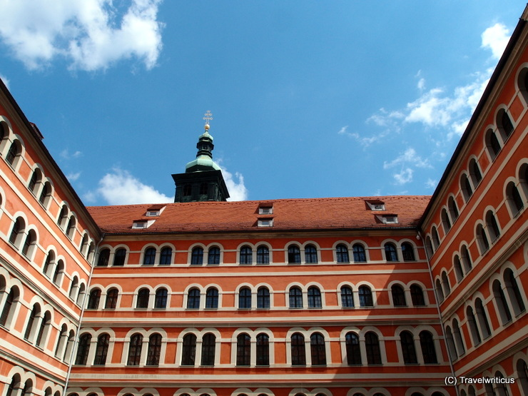 At the inner courtyard of the priests' seminary in Graz, Austria