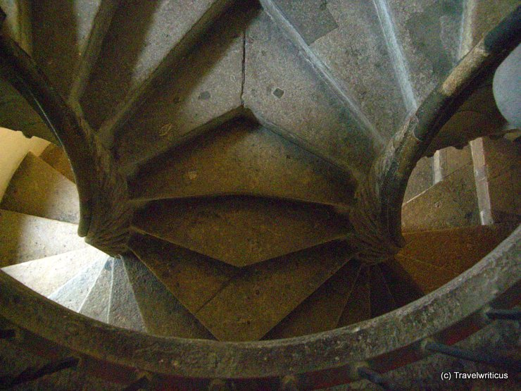 Twin spiral stairs in Graz