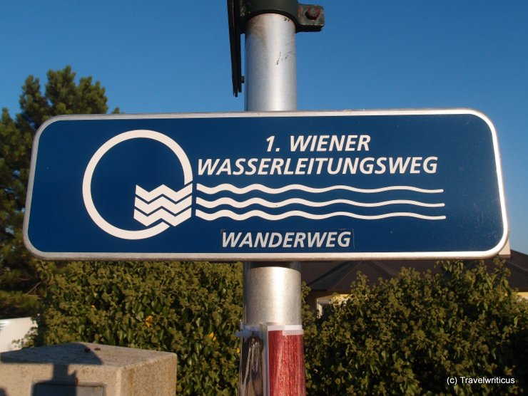 Sign of the 1. Wiener Wasserleitungsweg