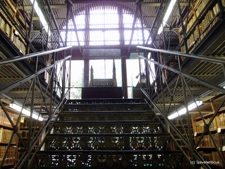 Iron stairs at the Marienbibliothek in Halle (Saale), Germany