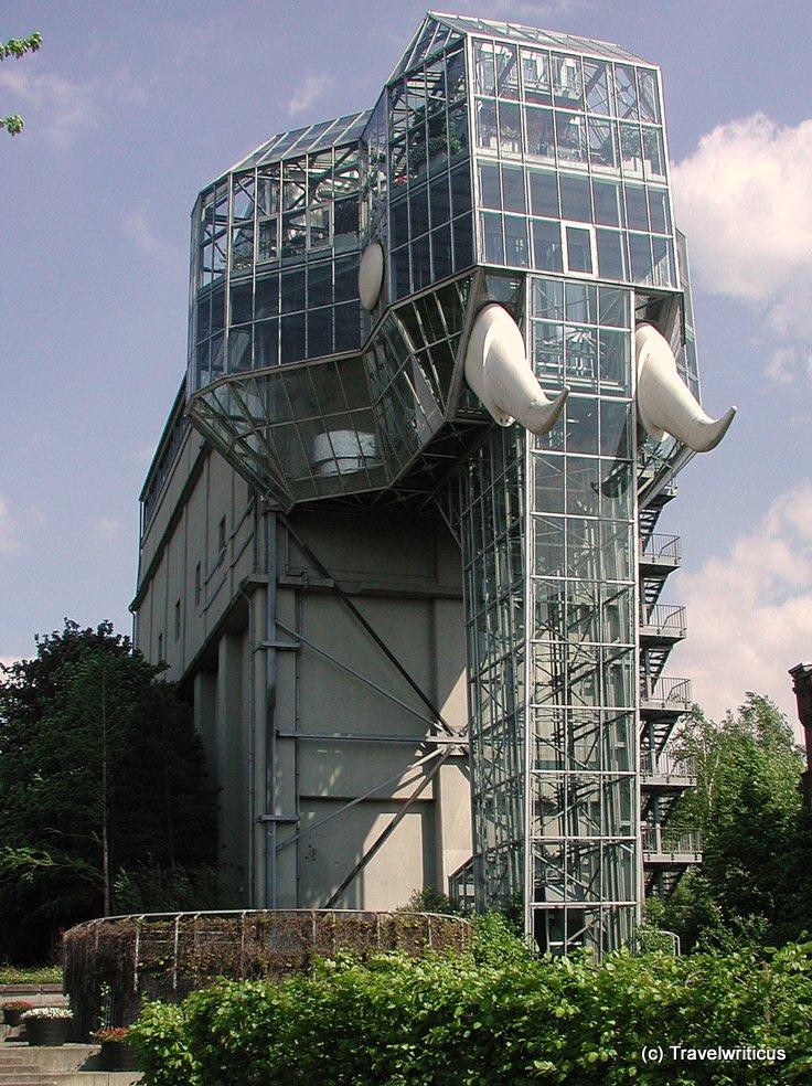 Glass elephant at Maximilianpark in Hamm, Germany
