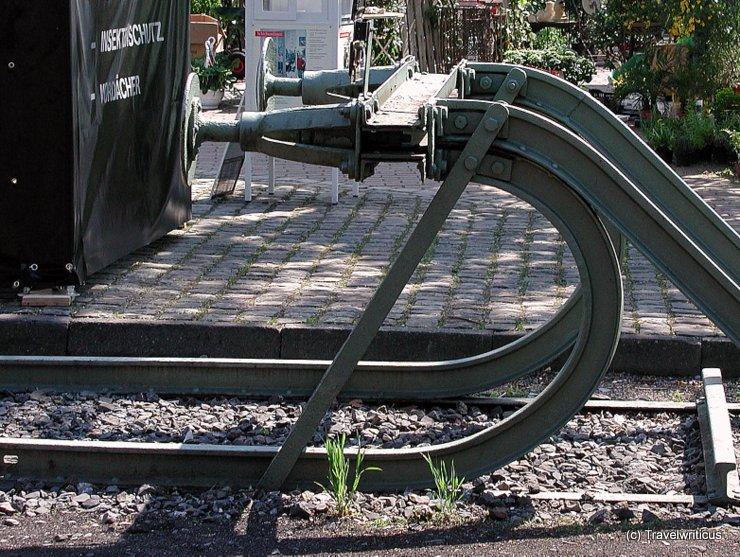 Railway bumper in Hamm, Germany