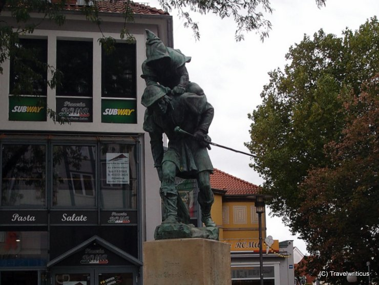 Monument to a huckup in Hildesheim, Germany