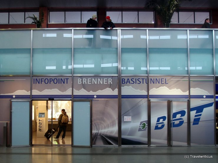 Infopoint in Innsbruck about Brenner Base Tunnel