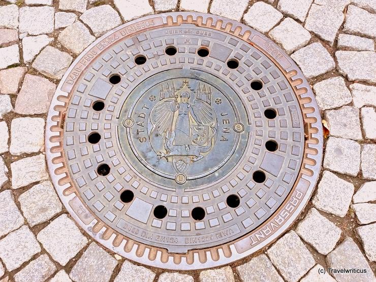 Manhole cover in Jena