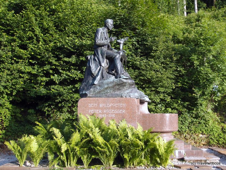 Monument of Peter Rosegger in Kapfenberg, Austria