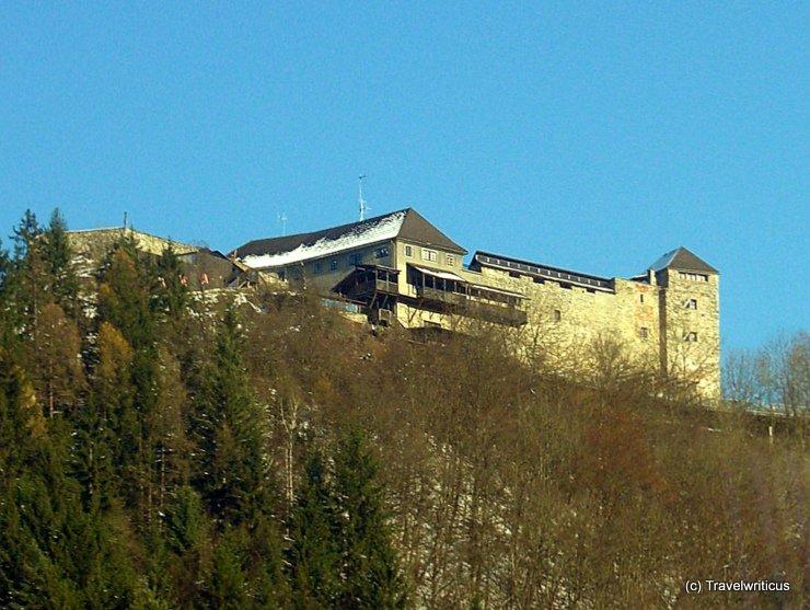 View of Oberkapfenberg Castle taken on a train journey