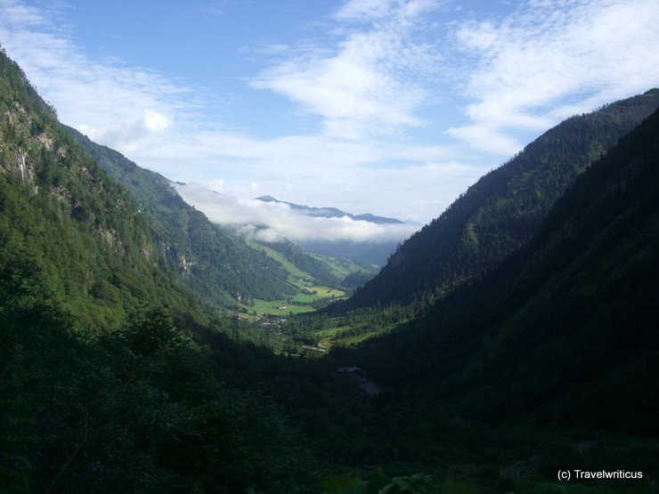 View from the Lärchwandlift in Kaprun, Austria