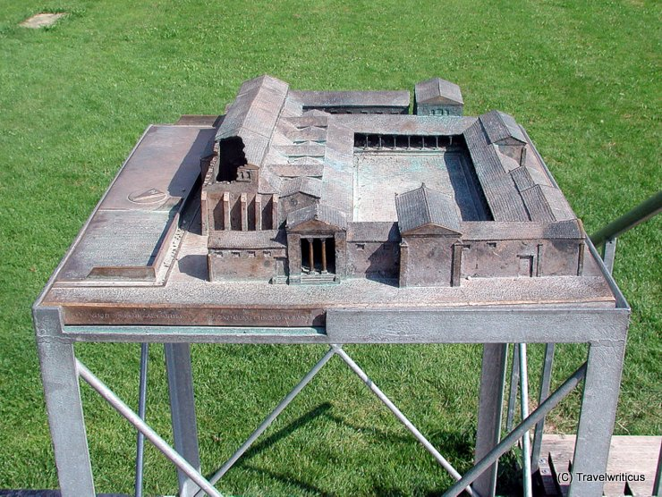 Model of Roman forum in Kempten, Germany