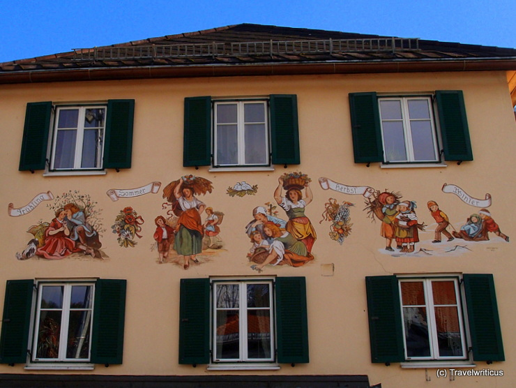 Depiction of the four seasons in Kindberg, Austria