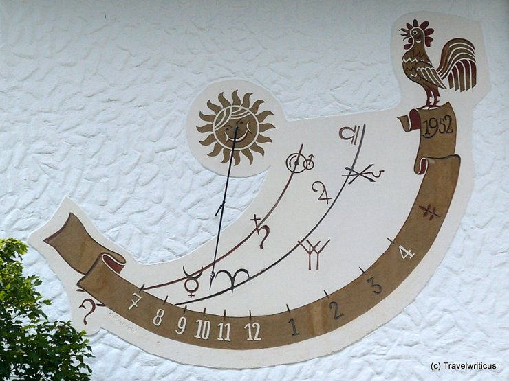 Sundial at a school in Mittelberg, Austria