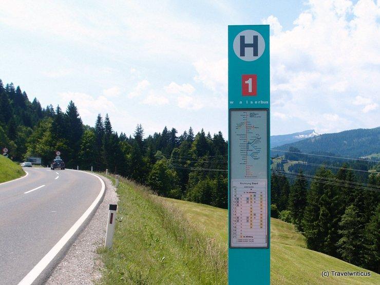 Walserbus in Kleinwalsertal, Austria