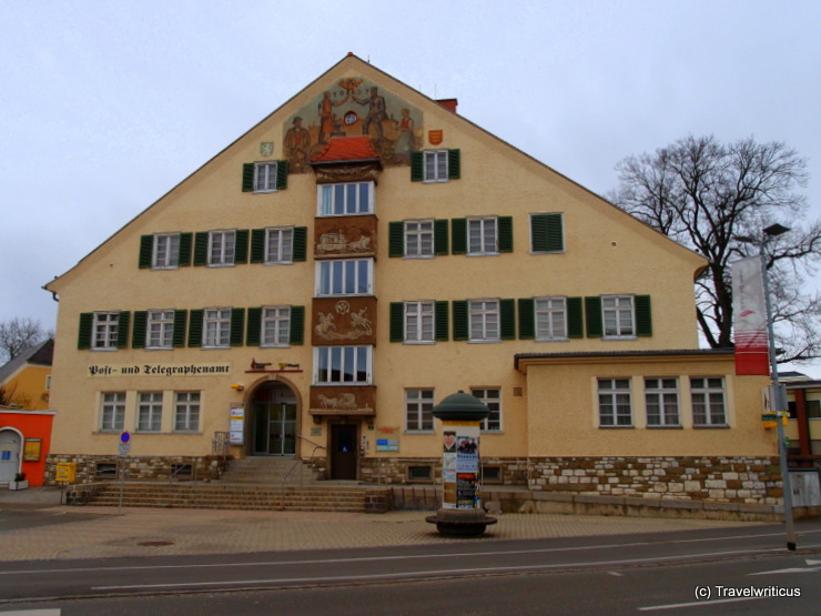 Post office building dating back to 1937 in Knittelfeld, Austria