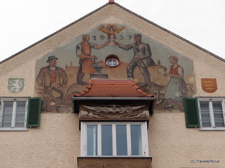 Depiction of a mailman in Knittelfeld, Austria