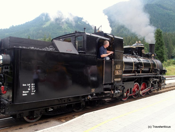 Steam locomotive Mh3 in Krimml, Austria