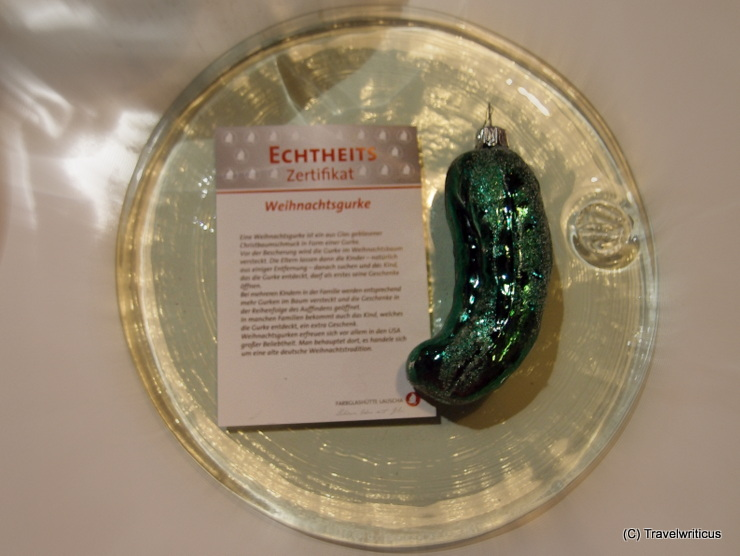 Christmas pickle from Lauscha, Germany