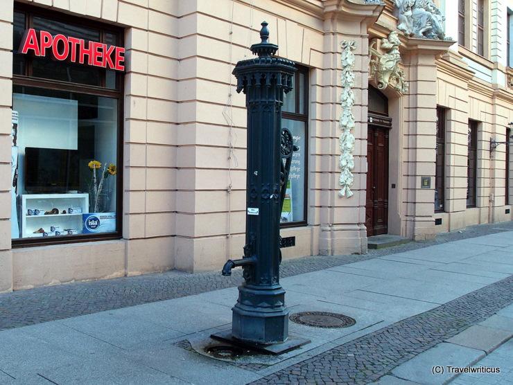 Classic water pump in Leipzig. Germany