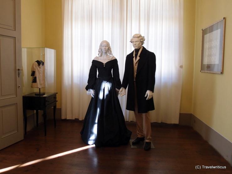 Figurines at the Mendelssohn House in Leipzig, Germany