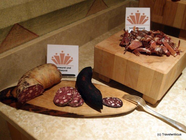 Blood sausage at Hotel Alpenrose in Lermoos, Austria