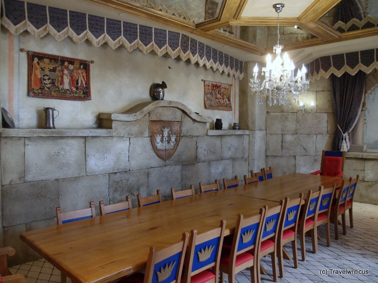 Knight's hall at Hotel Alpenrose in Lermoos, Austria