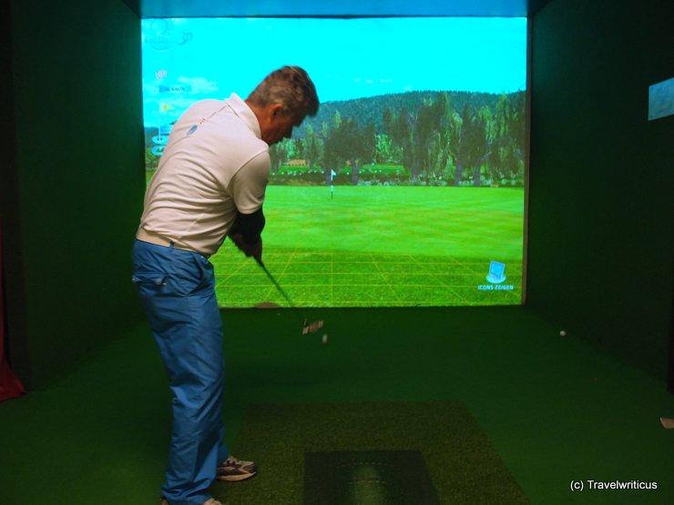 Indoor golf at Hotel Alpenrose in Lermoos, Austria