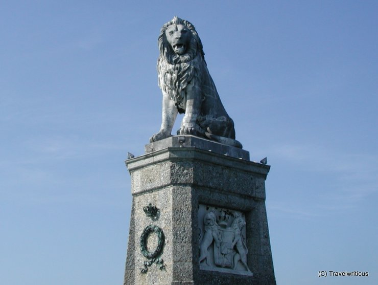 Bavarian lion in Lindau, Germany