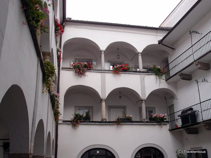 Inner yard of the Mozarthaus in Linz