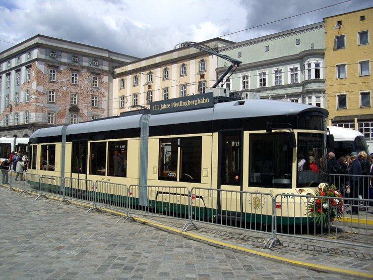The Pöstlingbergbahn in Linz, Austria