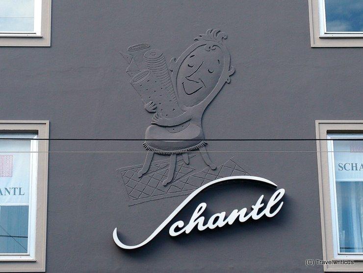 Shop sign of a furniture shop in Linz, Österreich