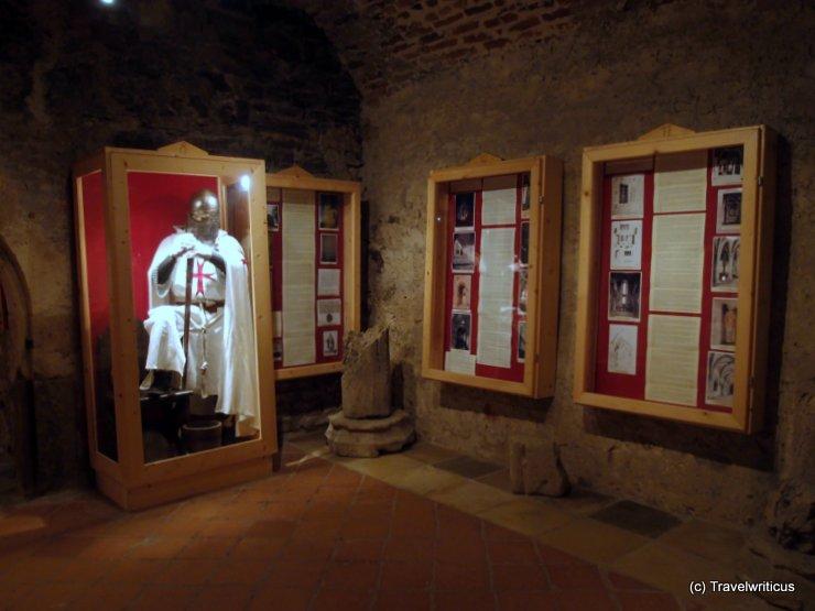 Templar museum at Lockenhaus Castle in Burgenland, Austria