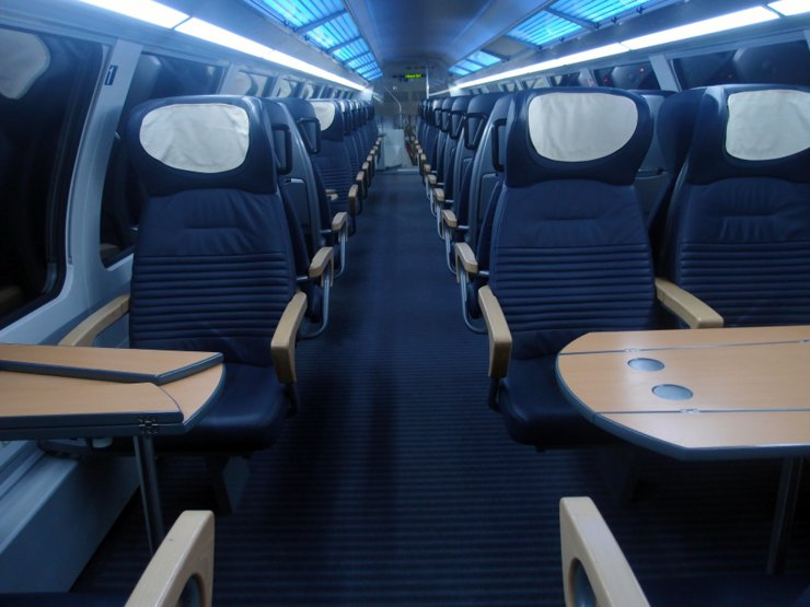 1st class at German commuter train