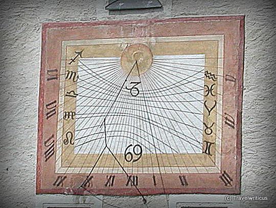 Sundial on St Mary's Church in Maria Saal