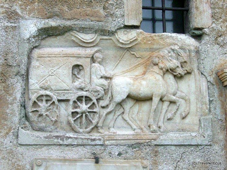 Roman mail coach in Maria Saal, Austria