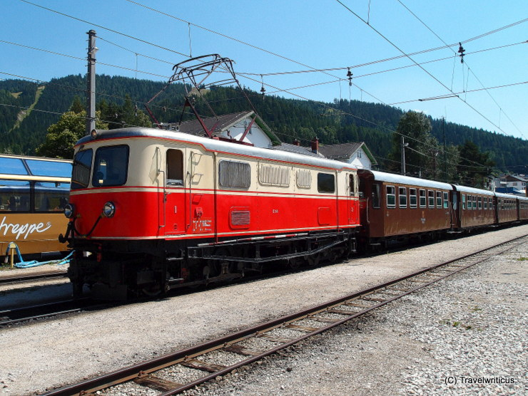 Electric locomotive class 1099 in Mariazell, Austria