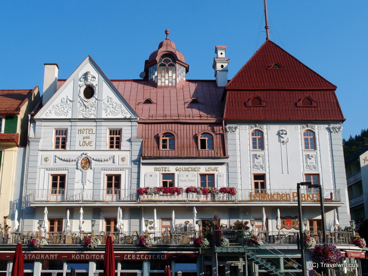 'Golden Lion Hotel', an art nouveau building in Mariazell, Austria