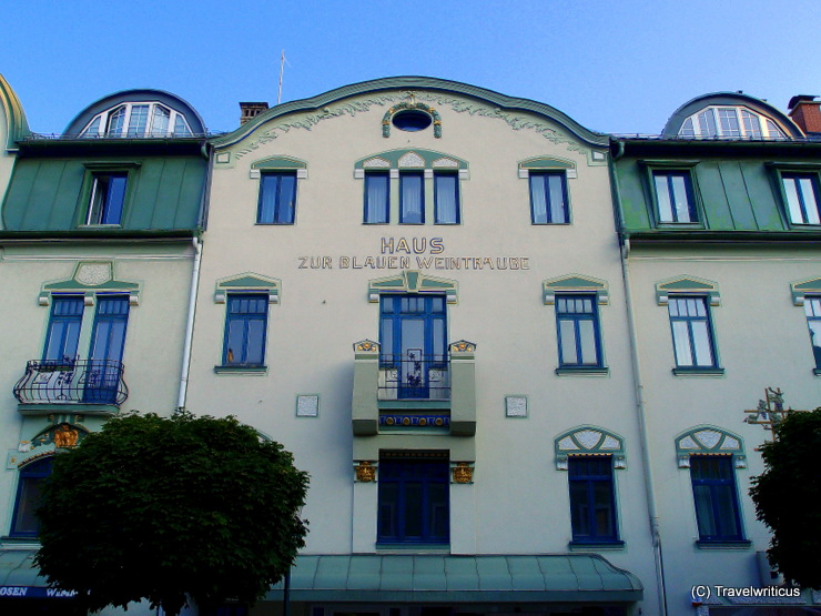 'House to the blue grape', an art nouveau building in Mariazell, Austria