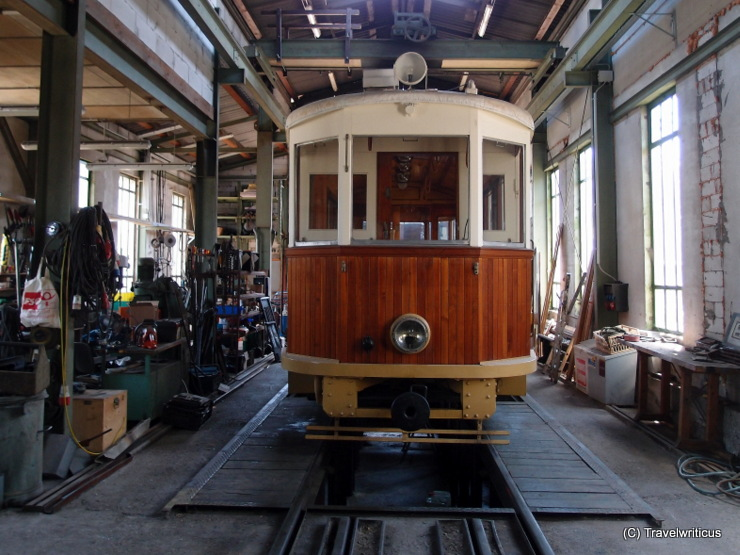 At the depot of the museum tramway in Mariazell, Austria