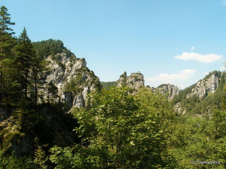 Erlauf gorge along the Mariazell Railway in Austria
