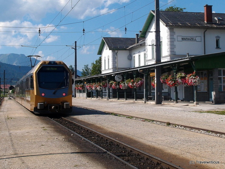 Railway station in Mariazell, Austria