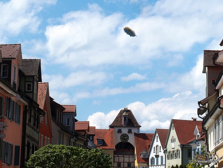 Airship above Meersburg, Germany