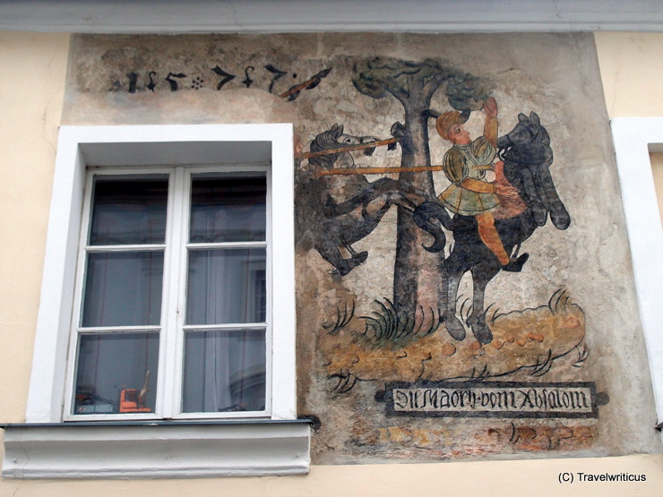 Renaissance fresco (1577) at the Sonnberger Haus in Melk, Austria