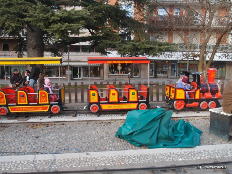 Christmas train in Merano, Italy