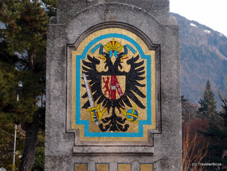 Emblem of the Habsburgs in Merano, Italy