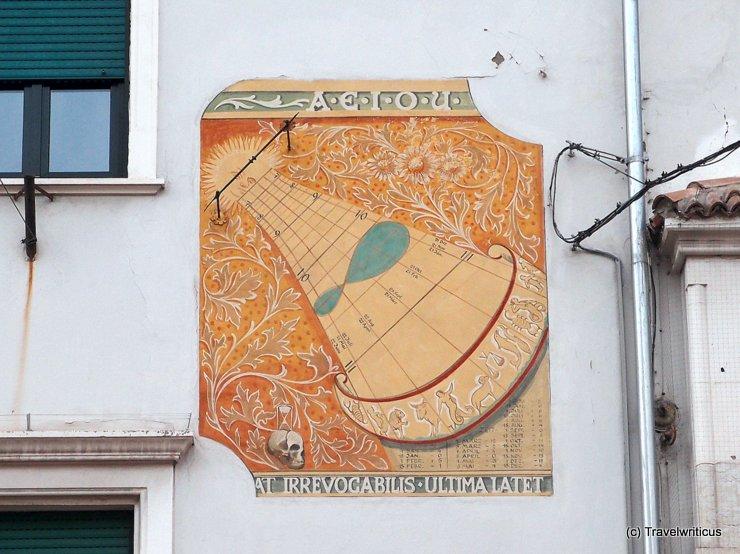 Sundial in Merano, Italy